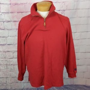 Sperry top-siders red pullover 1/4 zip size medium